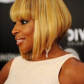 Mary J Blige Graduated Bob Haircut
