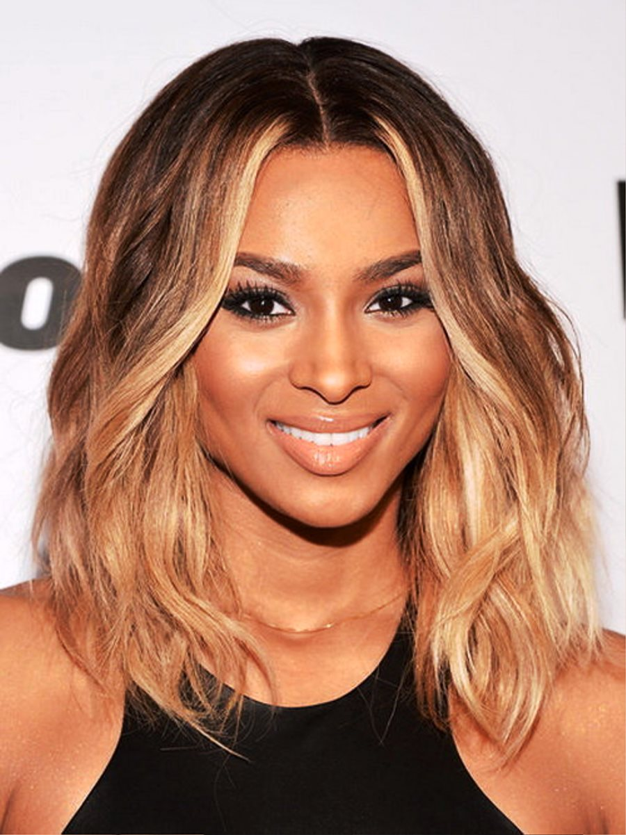 pictures of medium length wavy hairstyles for black women