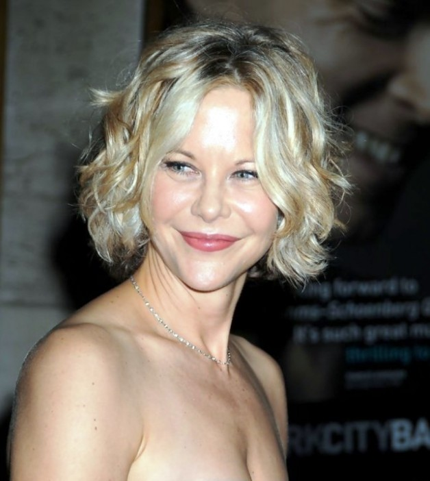 Meg Ryan Short Bob Hairstyle With Curls