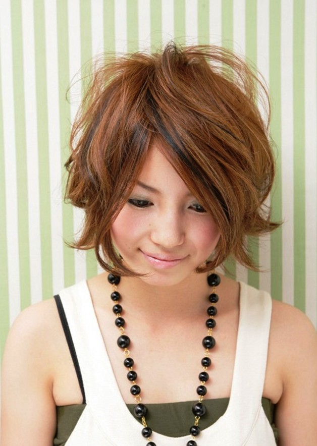 Messy Japanese Bob Hairstyle