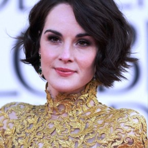 Michelle Dockery Short Wavy Bob Hairstyles 2013