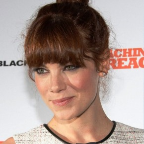 Michelle Monaghan Top Knot Hair With Blunt Bangs