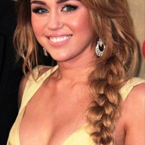 Miley Cyrus Braided Hairstyle