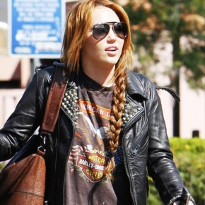 Miley Cyrus Casual Side Braid