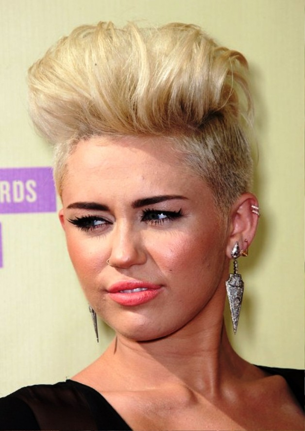 Miley Cyrus Fauxhawk Hairstyle For Women