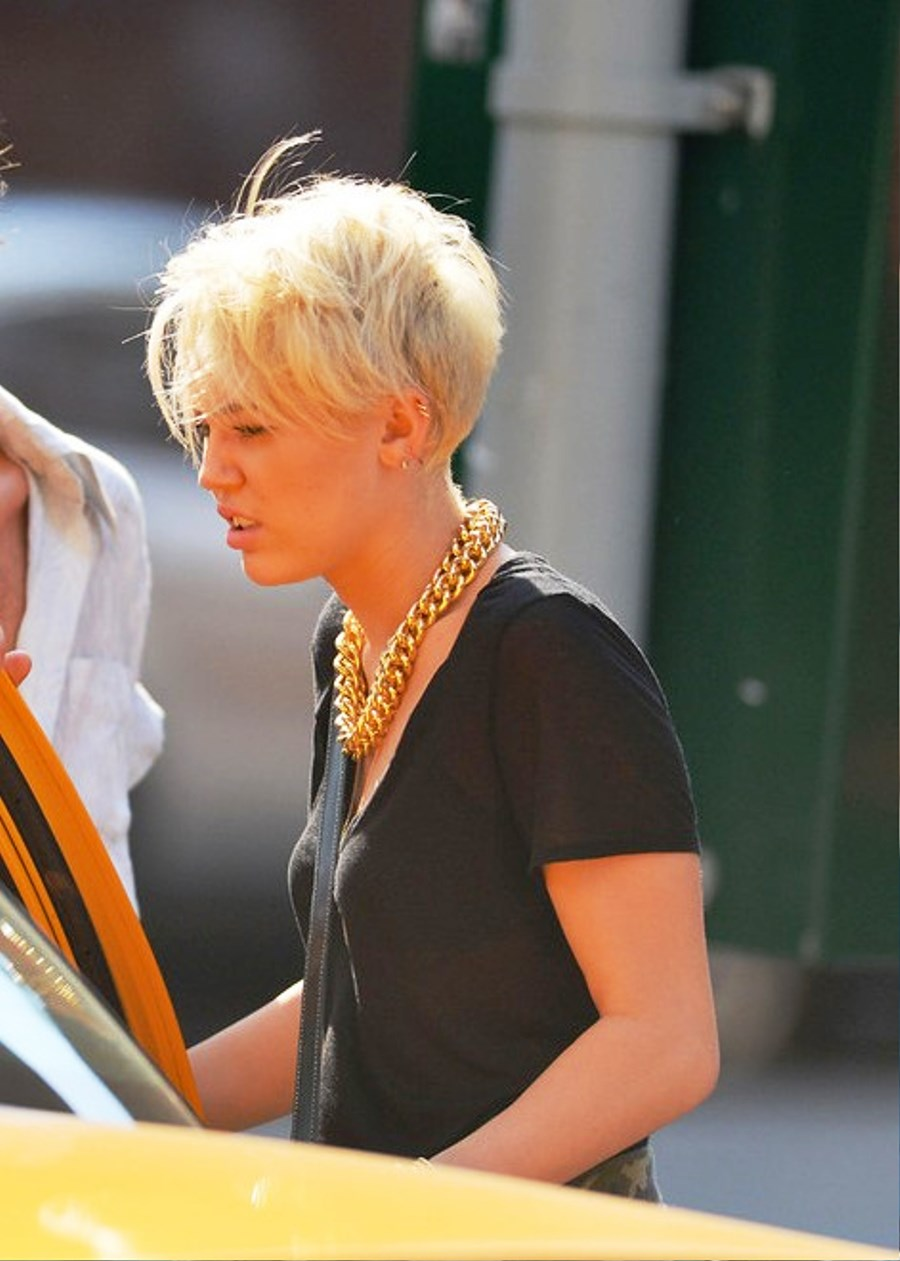 of Miley Cyrus Short Pixie Haircut