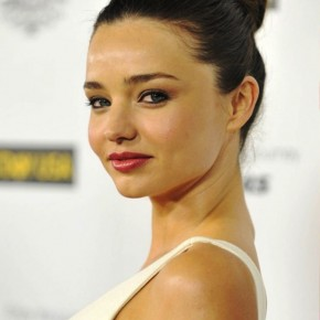 Miranda Kerr Simple High Bun Hairstyle