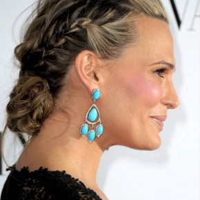 Molly Sims Braided Updo For Mature Women
