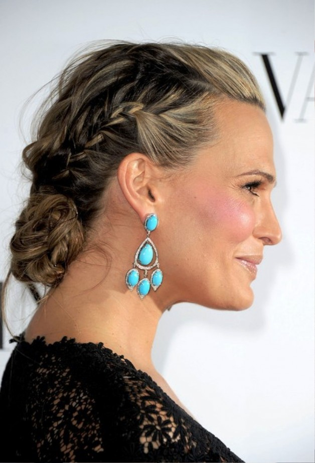 molly sims braided updo for mature women behairstylescom