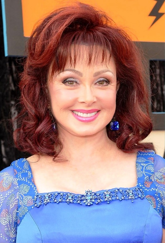 Naomi Judd Long Red Curly Hairstyle