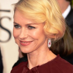 Naomi Watts Short Blonde Wavy Bob Hairstyle