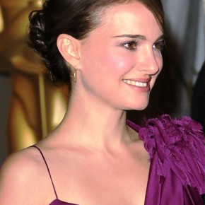 Natalie Portman Bun Updo Hairstyle For Thin Hair
