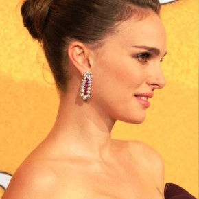 Natalie Portman Bun Updos Hairstyles For Short Hair