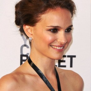 Natalie Portman Casual Updo For Prom