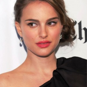 Natalie Portman Sophisticated Side Bun Updo