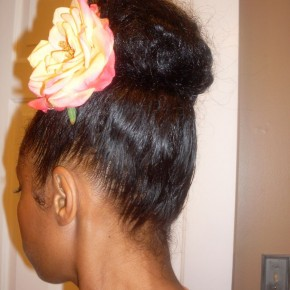 Natural Hairstyles Using Banana Clips