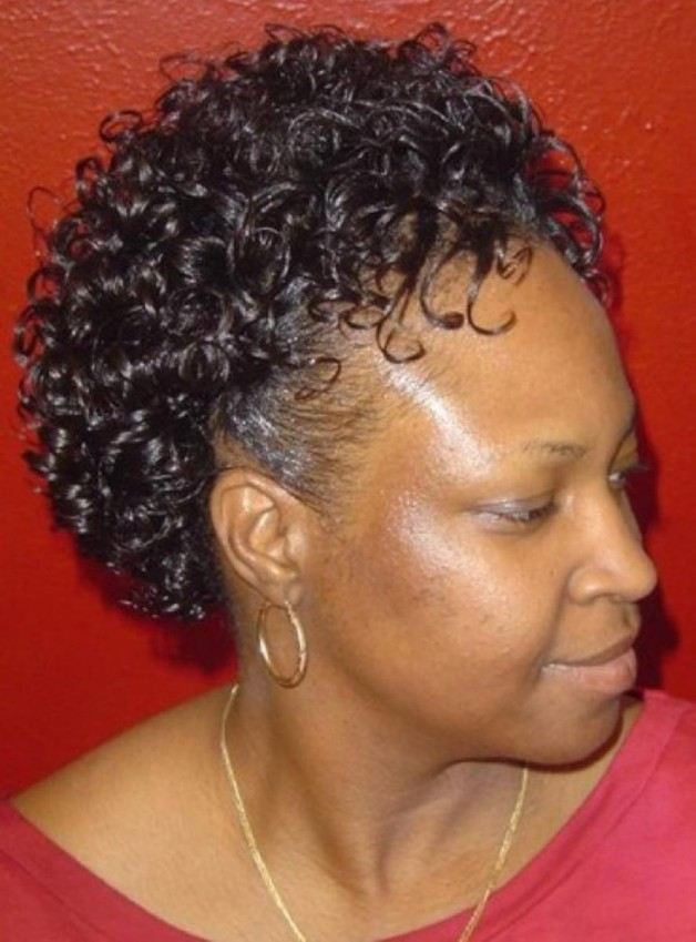 Natural Short Curly Black Hairstyles