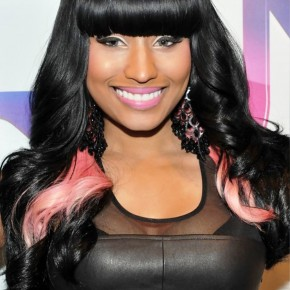 Nicki Minaj Long Black Hairstyle With Blunt Bangs1