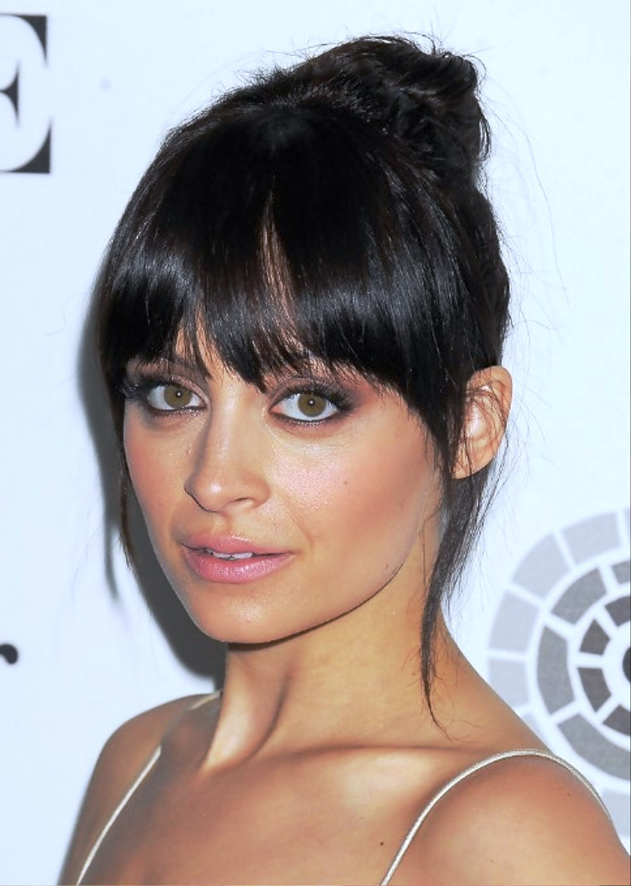 Pictures Of Nicole Richie Brunette Knot Updo Hairstyle