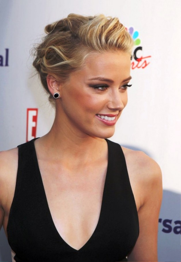 Perfect Casual Updo Hairstyle From Amber Heard