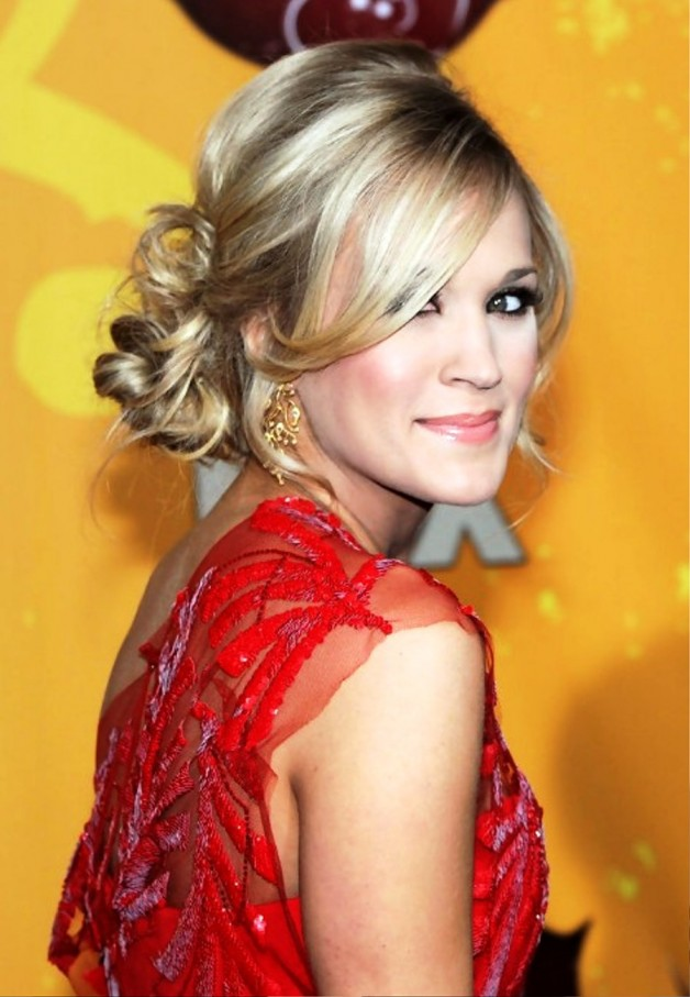 Perfect Loose Low Bun Updo From Carrie Underwood