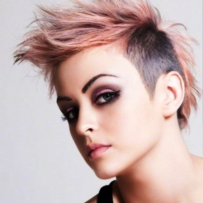 Pink Short Mohawk Funky Hairstyles