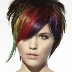 Rainbow Short Punk Hairstyles