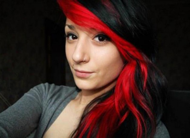 Red and Black Hairstyles 2013