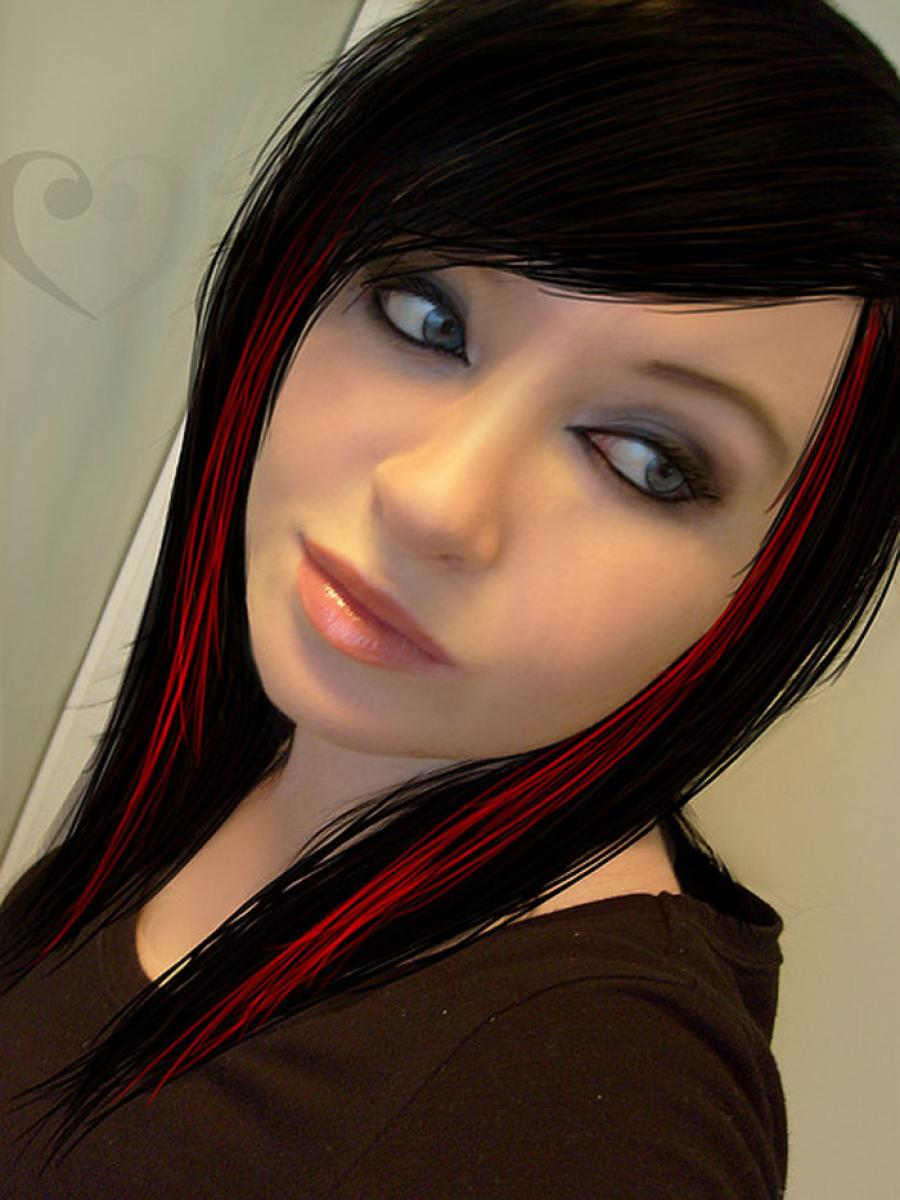 Pictures of Red and Black Hairstyles for Girls