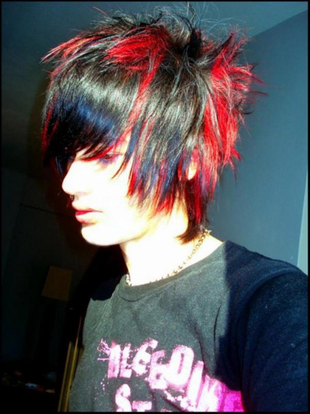Red and Black Hairstyles for Guys