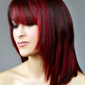 Red and Black Hairstyles for Women