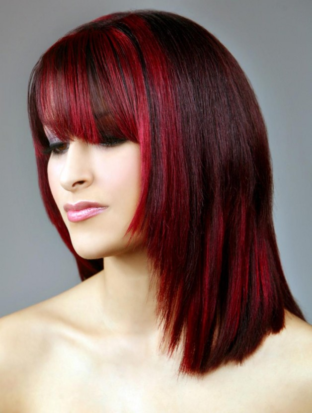 Groovy Red And Black Hairstyles For Women Behairstyles Com Hairstyle Inspiration Daily Dogsangcom