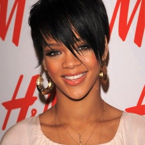 Rihanna African American Short Hairstyles Layered