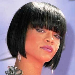 Rihanna Black Medium Hairstyles