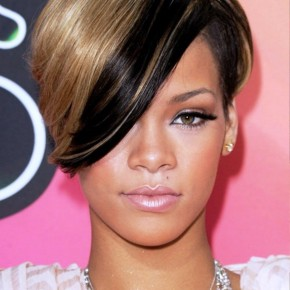 Rihanna Brown Short Hairstyles