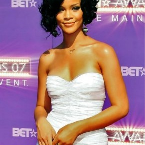 Rihanna Curly Black Bob Hairstyles