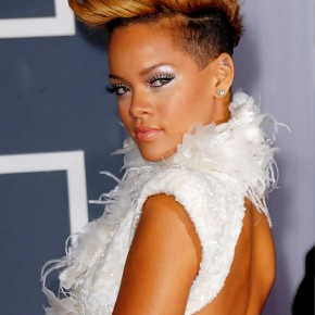 Rihanna Faux Hawk Haircut