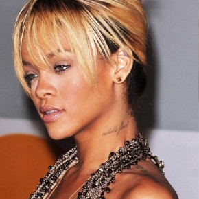 Rihanna French Twist Updo Hairstyle