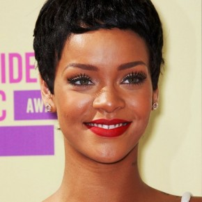 Rihanna Latest Short Black Boy Cut