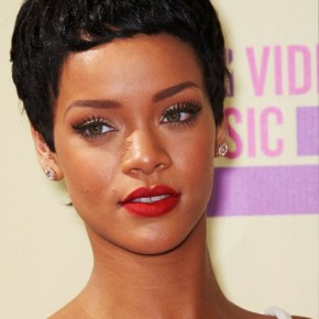 Rihanna Latest Short Curly Hairstyle