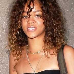 Rihanna Long Girly Natural Hairstyle
