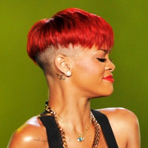 Rihanna Red Boy Cut