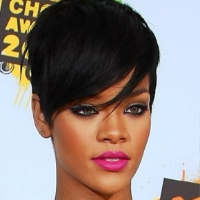 Rihanna Short Black Haircut