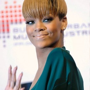 Rihanna Short Sleek Bowl Cut