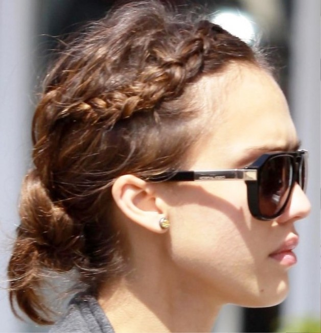 Romantic Braided Bun Hairstyle