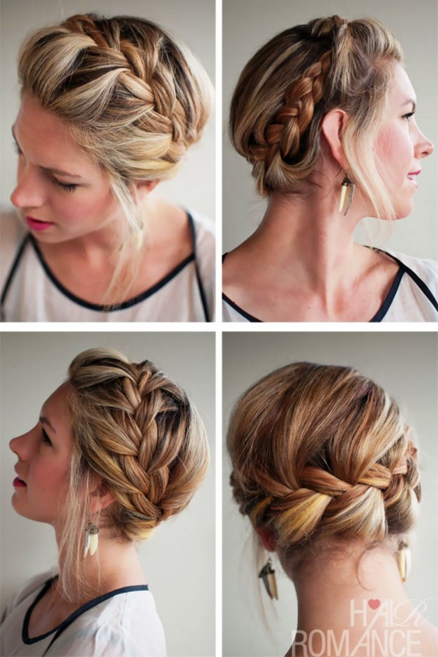 Romantic French Crown Braid For Wedding