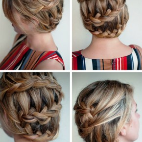 Romantic Unique Braided Updo Hairstyle