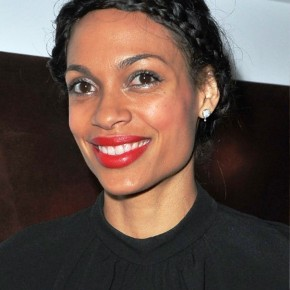 Rosario Dawson Braided Black Updo