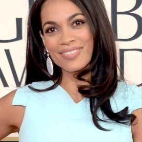 Rosario Dawson Long Sleek Hairstyles 2013