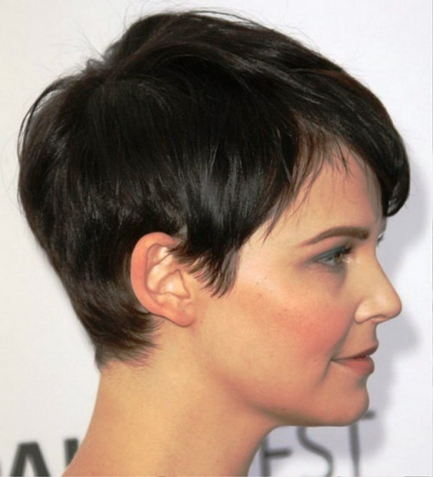 Round Faces With Black Short Hairstyles